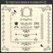 Vintage ornament set. Vector illustration — Stock Vector
