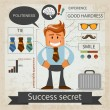 Stock Vector: Success secret. Office infografic. Vector illustration