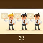 Zestaw kierownika urzędu. ilustracja wektorowa — Wektor stockowy