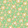 Stock Vector: Floral seamless pattern in retro style. Vector illustration