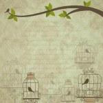Retro background of scrapbooking theme. Vector illustration — Stock Vector #27015609