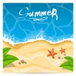 Summer beach. Vector illustration — Stock Vector #27015613