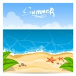 Stock Vector: Summer beach. Vector illustration