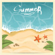 Summer beach. Vector illustration — Stock Vector