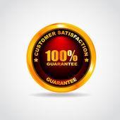 Gold label. Best choice. 100 guarantee. Vector illustration — Stok Vektör