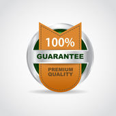 Silver label. Best choice. 100 guarantee. Vector illustration — Stock Vector