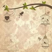 Retro background of scrapbooking theme. Vector illustration — Stock Vector
