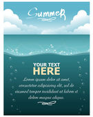 Underwater world. Vector illustration — Stock Vector