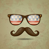 American Hipster. Vector illustration — Stock Vector