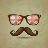 British hipster. Vector illustration — Stock Vector