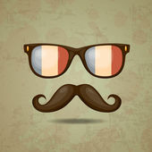 French Hipster. Vector illustration — Stock Vector