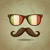 Italian Hipster. Vector illustration — Stock Vector