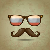 Russian Hipster. Vector illustration — Wektor stockowy