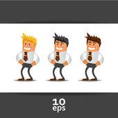 Set de chef de bureau. illustration vectorielle — Vecteur