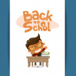 Happy school boy. Vector illustration — Stock Vector