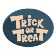 Stock Vector: Trick or treat.