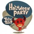 Halloween party. Children in suits. — Stock Vector #31400321