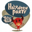 Stock Vector: Halloween party. Children in suits.