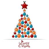 Christmas tree. Vector illustration Christmas theme — Stock Vector