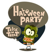 Halloween party. Children in suits. — Stock Vector