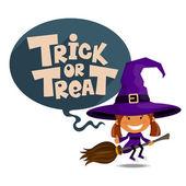 Trick or treat. Vector Illustration of Halloween theme. — Stock Vector