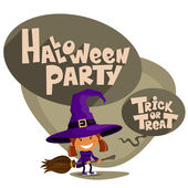 Trick or treat. Vector Illustration of Halloween theme. — Stock Vector