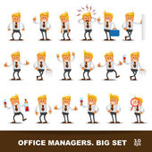 Set of Happy office man — Stock Vector