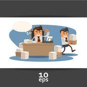 Ilustrace motivu office theme. — Stock vektor