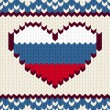 Knitted pattern Russian flag — Stock Vector #37582033