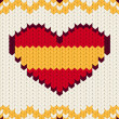 Knitted pattern Spain flag — Stock Vector