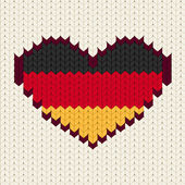 Knitted pattern Germany flag — Vettoriale Stock