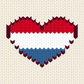 Knitted pattern Netherlands flag — Stockvector