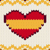 Knitted pattern Spain flag — Cтоковый вектор