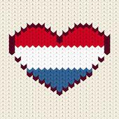 Knitted pattern Netherlands flag — Stock Vector