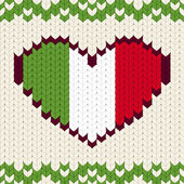 Knitted pattern Italy flag — Stock Vector