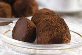 домашние шоколадные трюфели — Стоковое фото