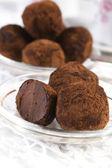 Tartufi al cioccolato fatti in casa — Foto Stock
