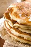 Pancakes with syrup — Stock Photo