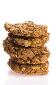 Oat cakes on a white background — ストック写真