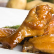 Roast chicken with honey - Stock Photo
