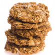 Oat cakes on a white background  — Stock Photo