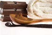 Spa 巧克力芳香疗法项目 — 图库照片