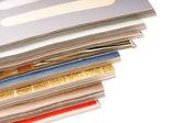Pilha de revistas — Foto Stock