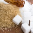 Various kinds of sugar close up  — Stock Photo