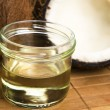 Stock Photo: Coconut oil for alternative therapy