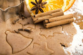 Baking ingredients for Christmas gingerbread — Stockfoto