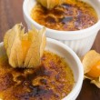 Stock Photo: French dessert - cream brulee, burnt cream