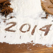 The inscription on the flour - 2014 — Stock Photo