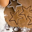 Preparing gingerbread cookies for christmas — Stock Photo