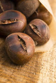 Delicious roasted chestnuts — Stock Photo